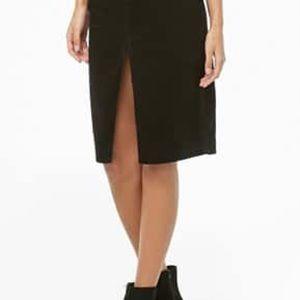 INC Front & Back Middle Slit Skirt